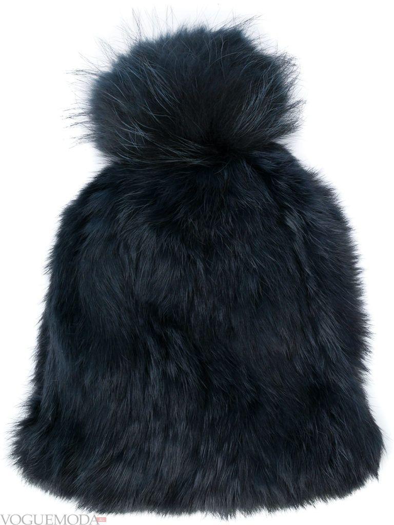 меховая шапка черная