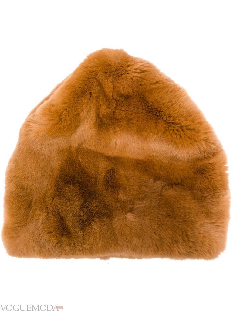 меховая шапка цветная