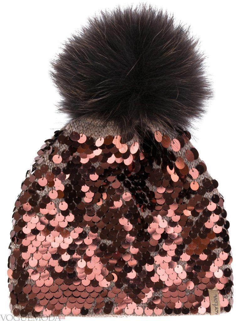 модная блестящая шапка
