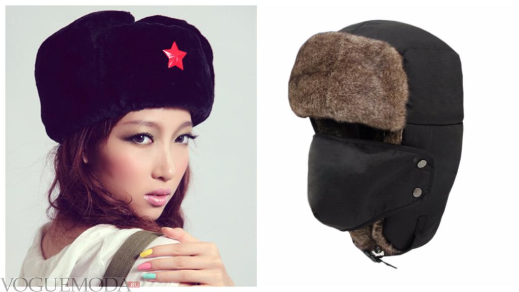шапки в военном стиле разные
