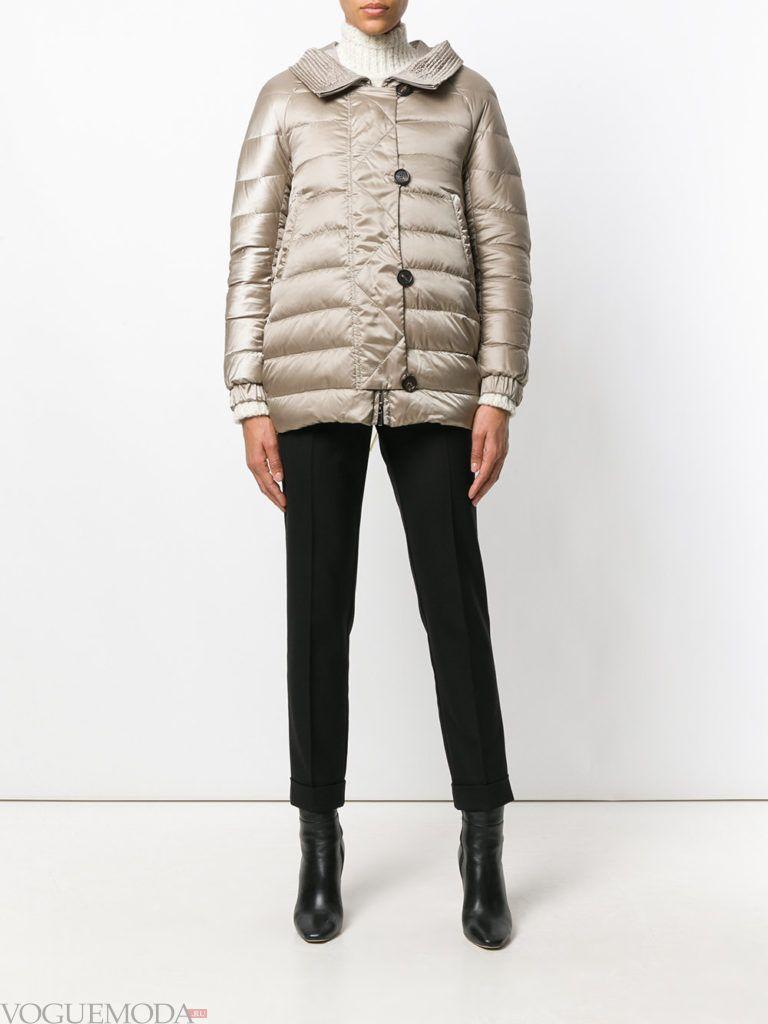 модная куртка на синтепоне с фигурной стежкой