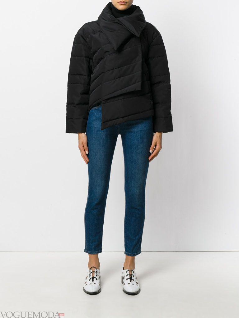 асимметричная модная куртка на синтепоне