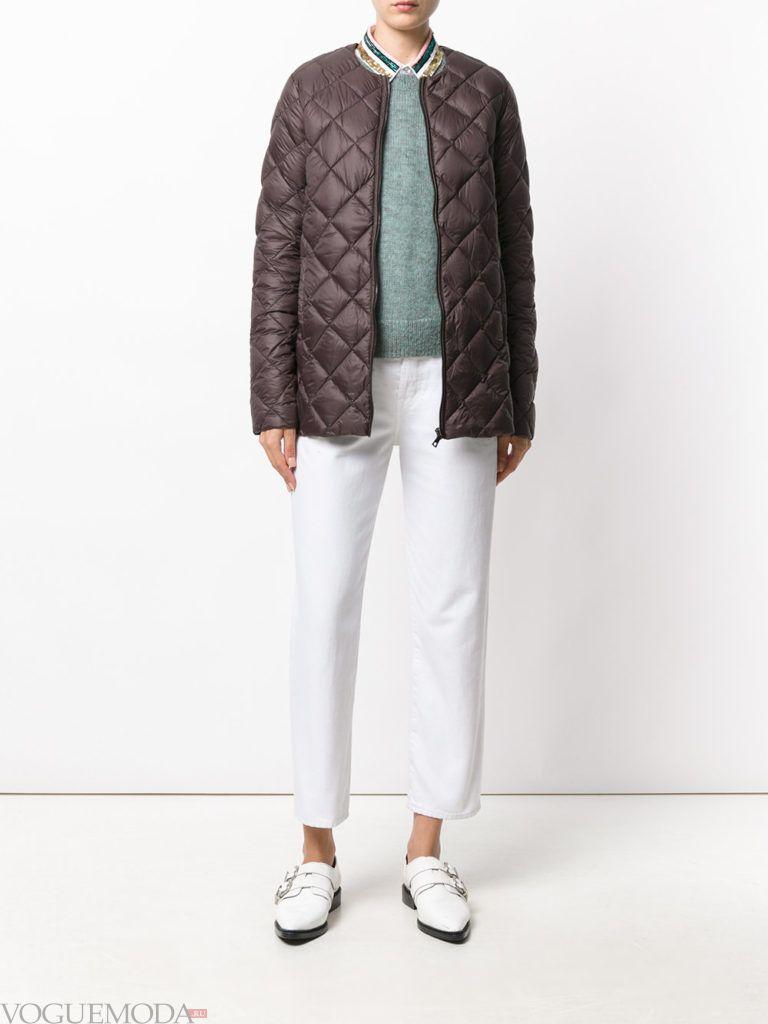 каждодневная коричневая куртка на синтепоне