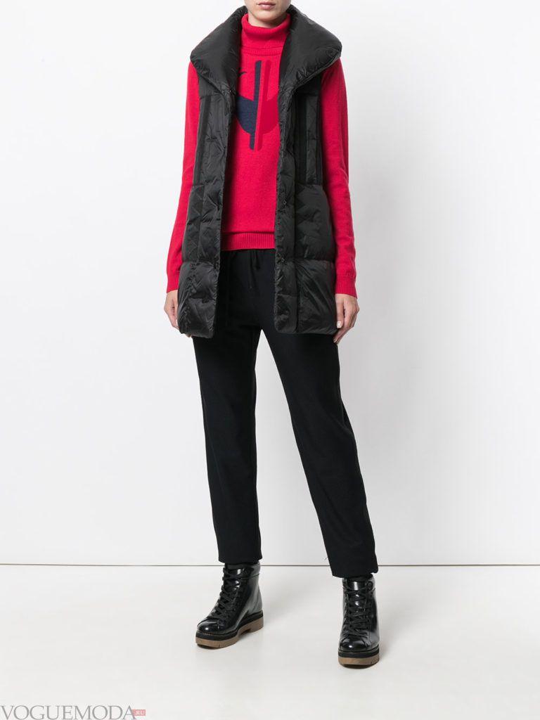 безрукавная модная куртка на синтепоне
