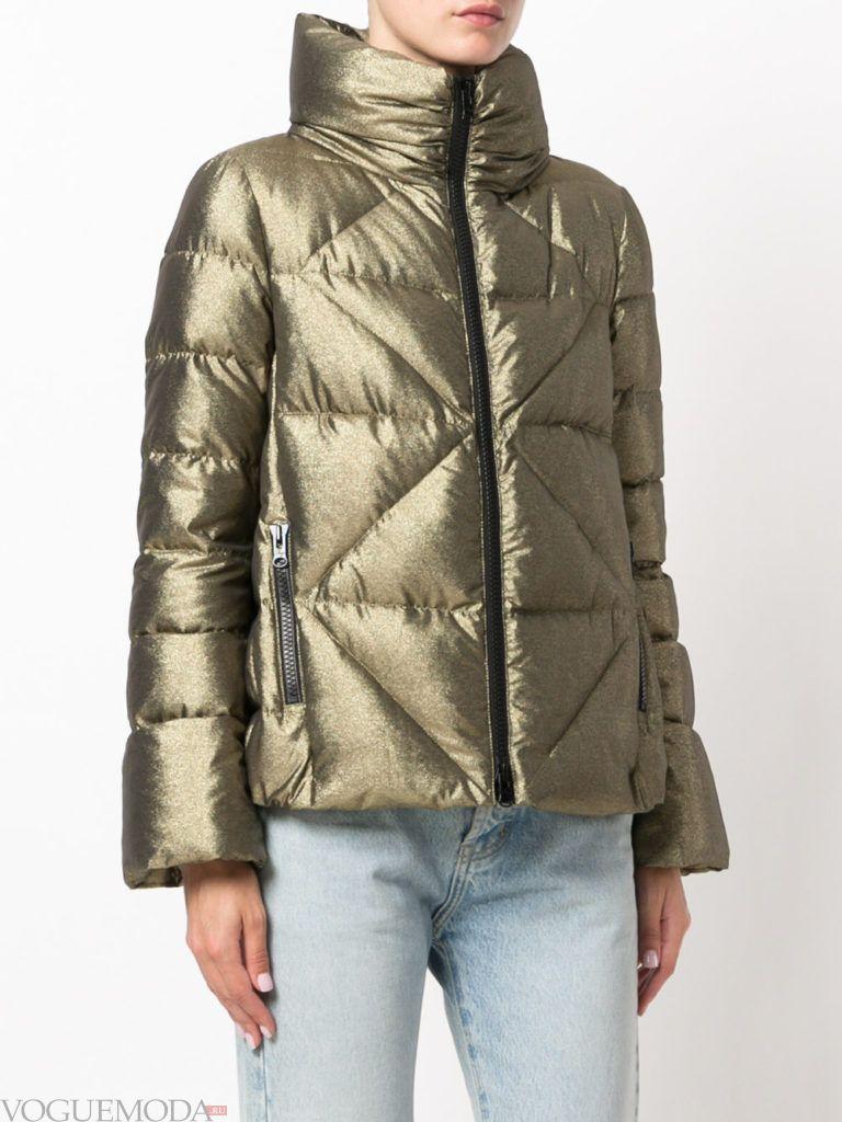 куртка на синтепоне с воротником цветная