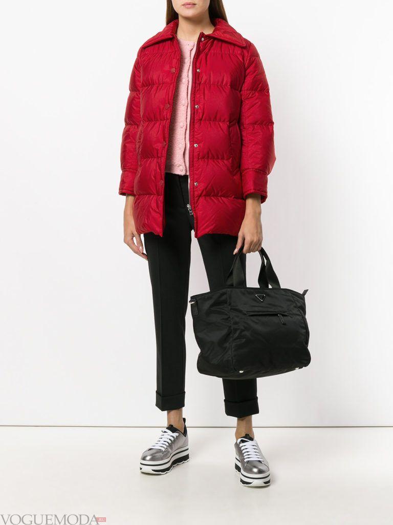 спортивная куртка на синтепоне красная