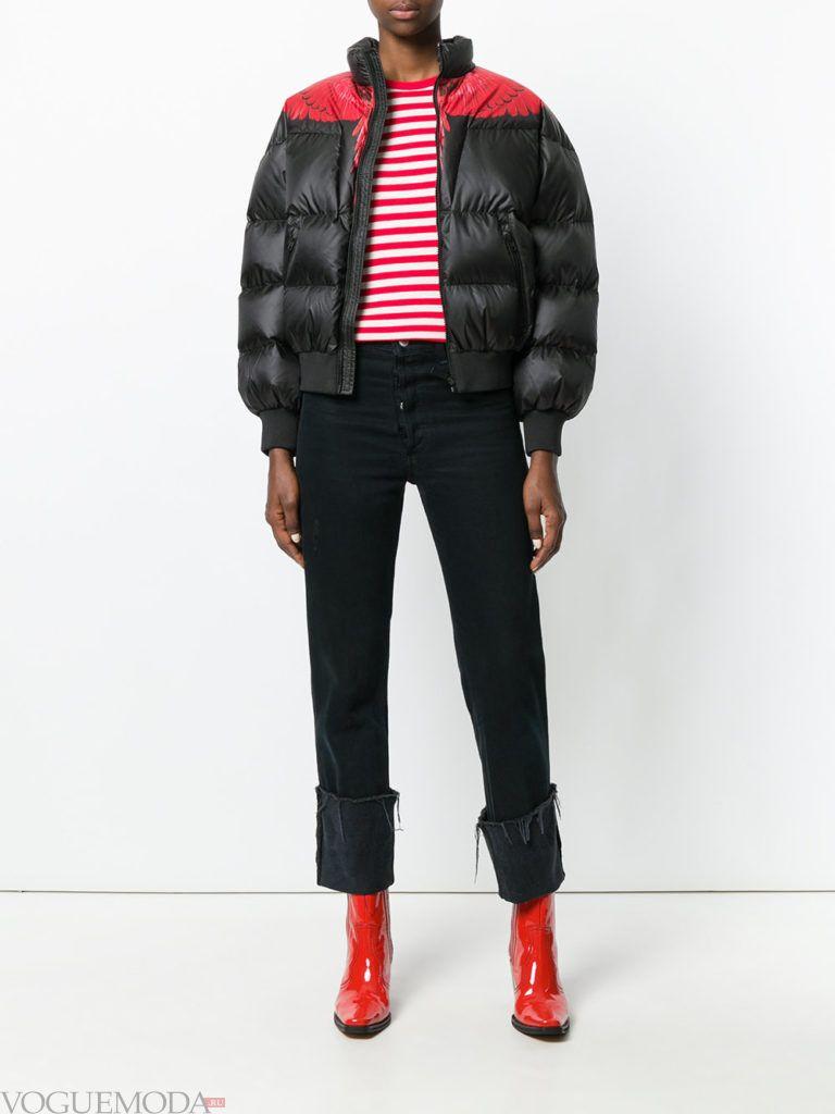спортивная куртка на синтепоне черная