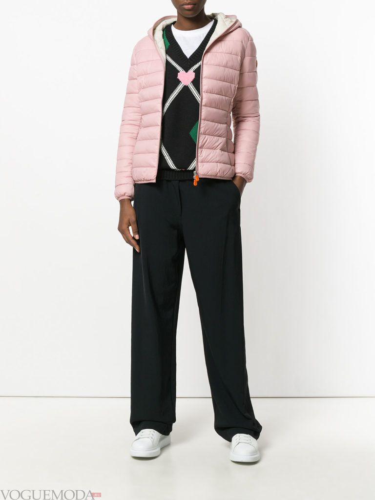 спортивная куртка на синтепоне нюдовая