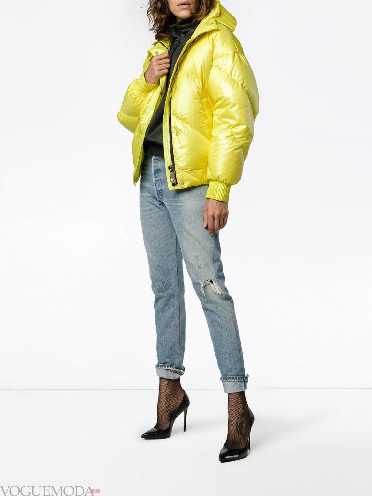 куртка на синтепоне желтая