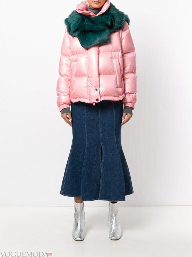 куртка на синтепоне розовая