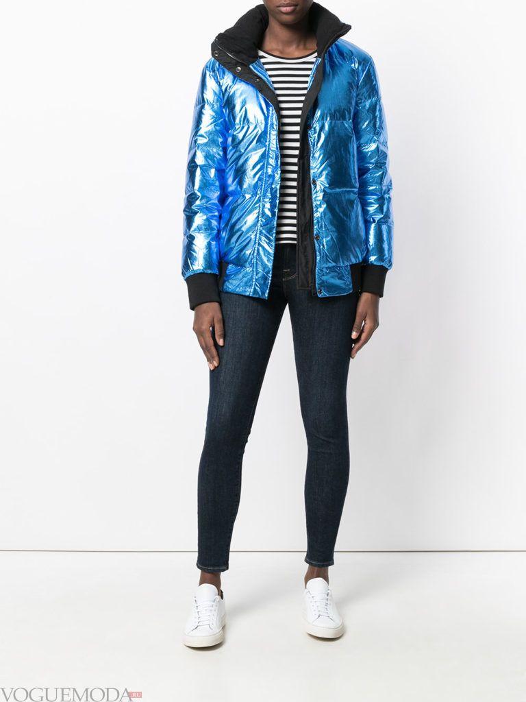 куртка на синтепоне блестящая