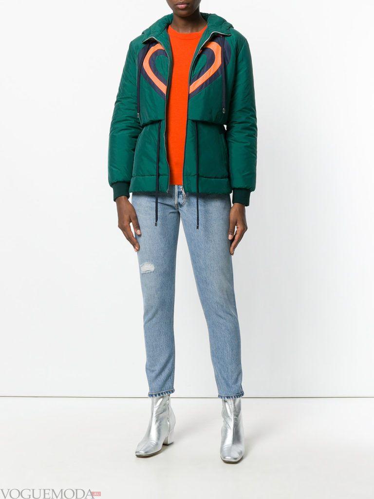 куртка на синтепоне зеленая