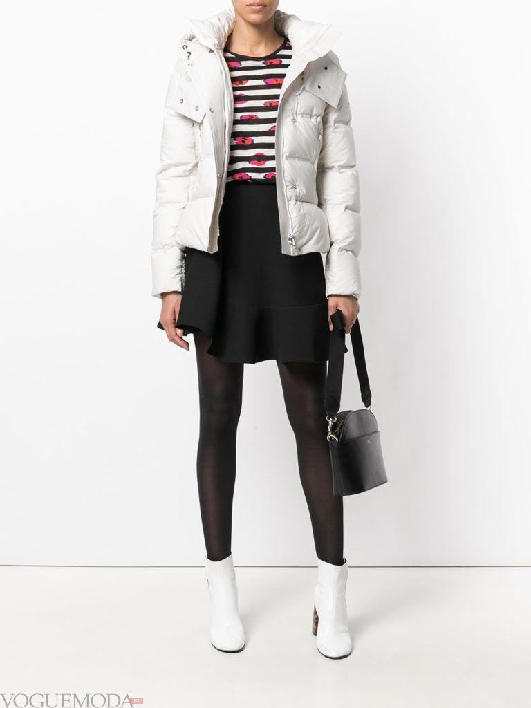 белая куртка на синтепоне