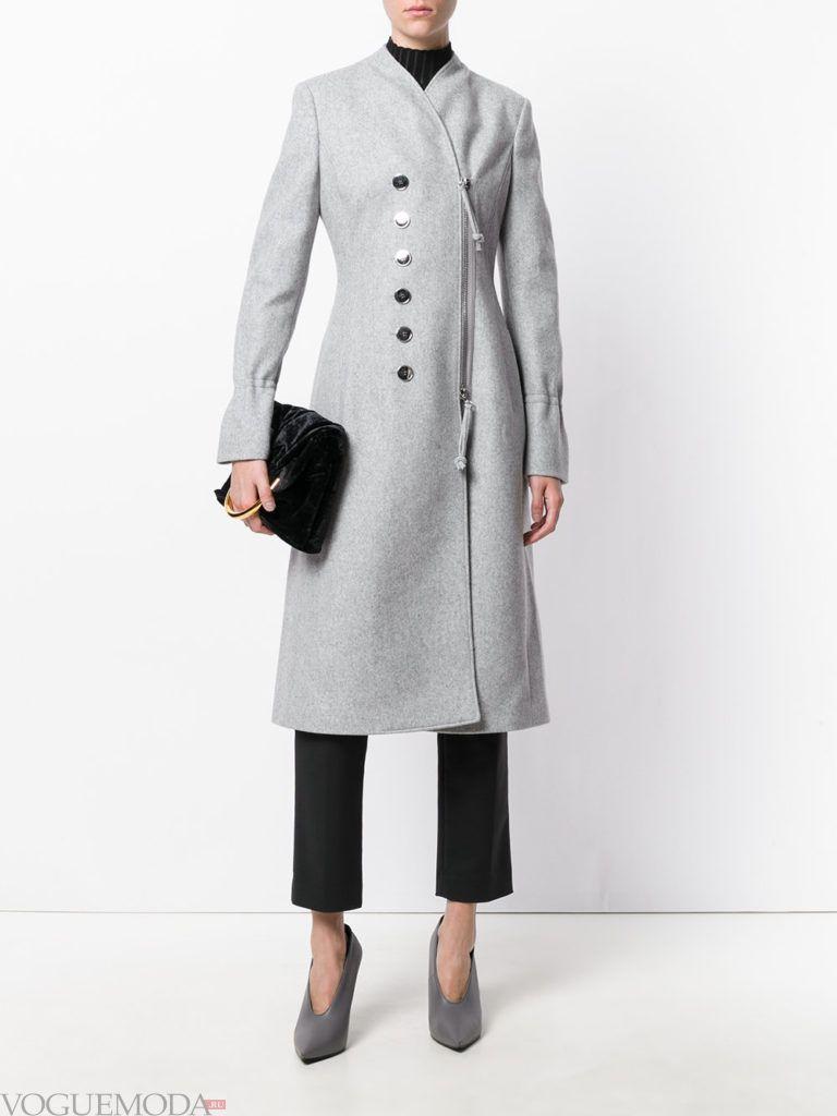 классическое пальто серое