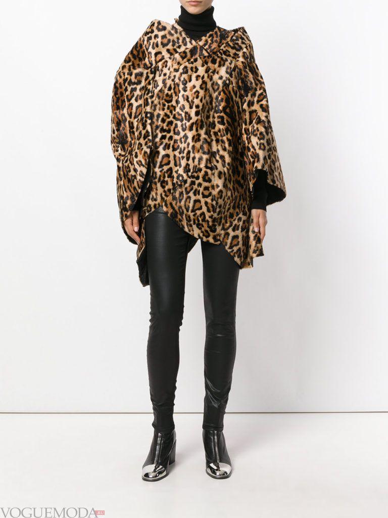 пальто oversize с принтом