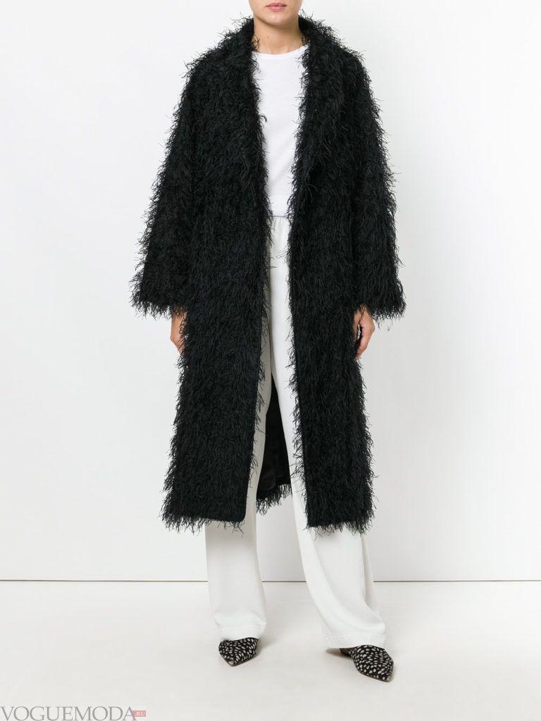 пальто oversize черное