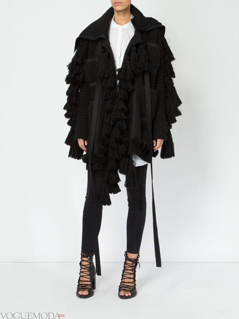 пальто oversize асимметричное