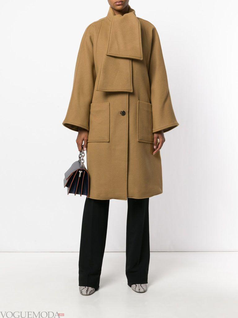 пальто в военном стиле цветное