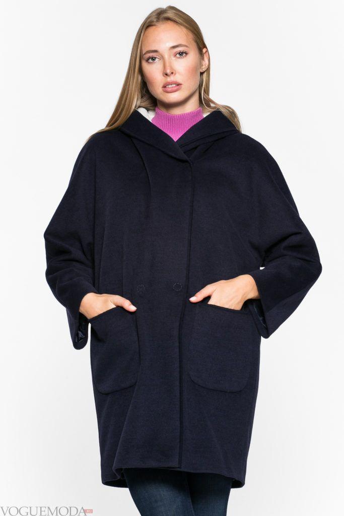 пальто в стиле милитари с карманами