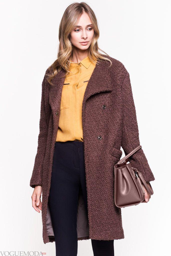 пальто в стиле милитари цветное