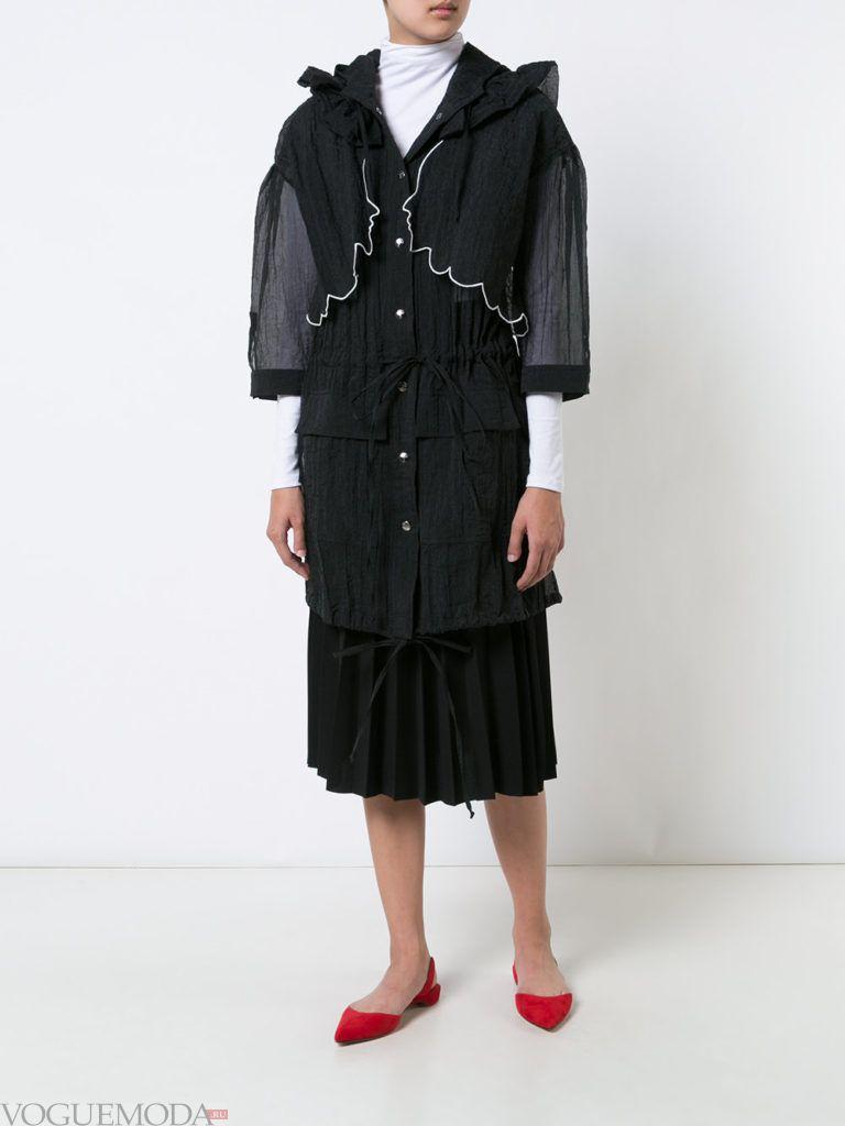 летнее прозрачное пальто