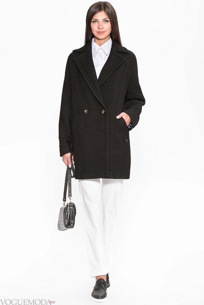 пальто boyfriend-style черное