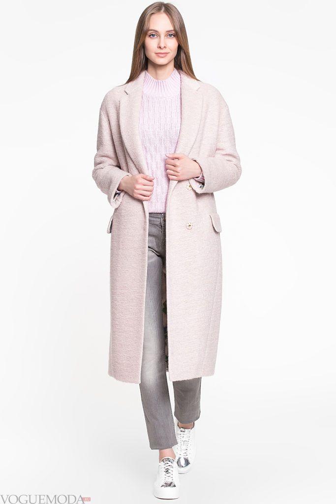 пальто унисекс светлое