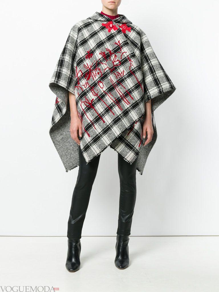 пальто-палантин модное
