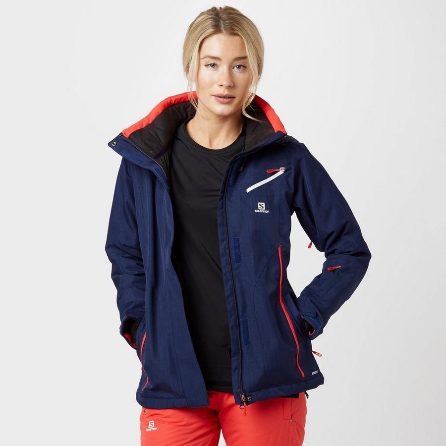 лыжная куртка синяя