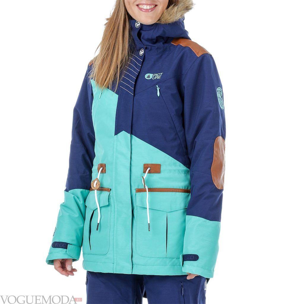 лыжная куртка двухцветная