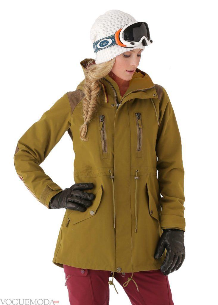лыжная куртка зеленая