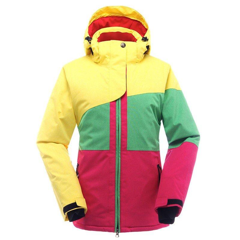 лыжная куртка разноцветная