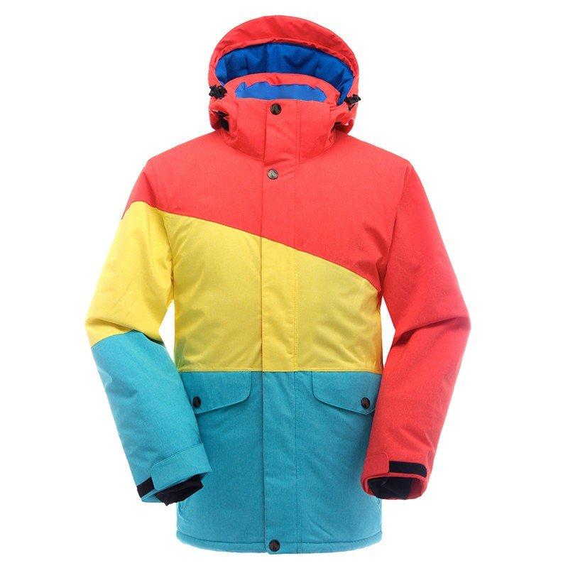 лыжная куртка колорблок