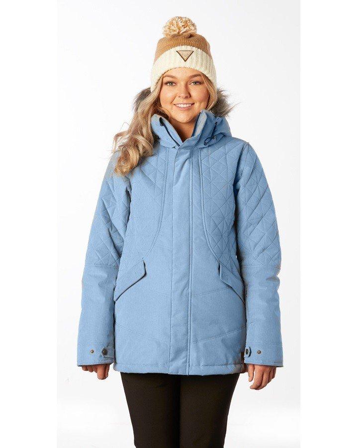 лыжная куртка голубая
