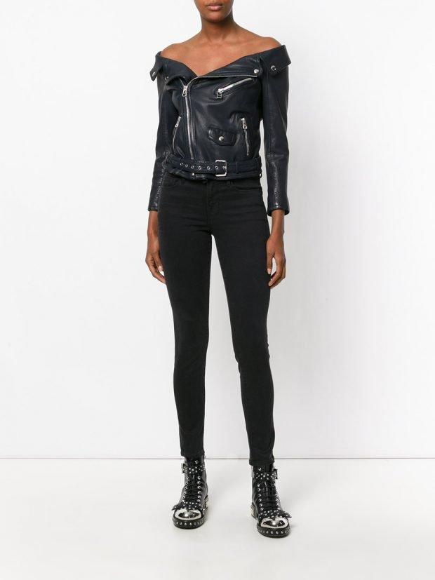 темная кожаная куртка-косуха
