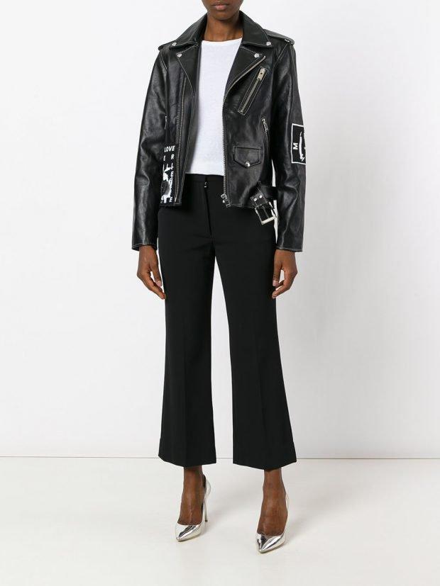 модная кожаная куртка-косуха