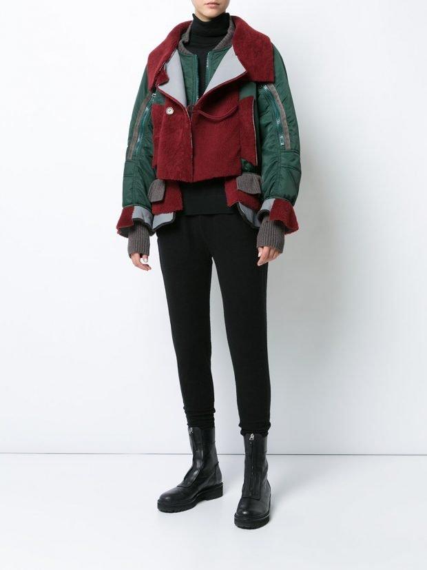 куртка бомбер разноцветная