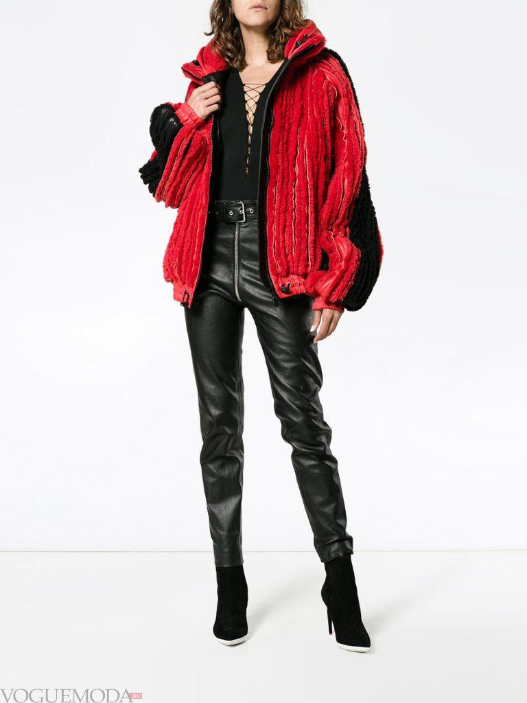 куртка бомбер меховая