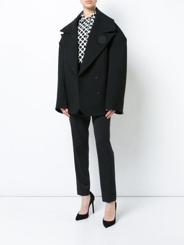 куртка в мужском стиле черная