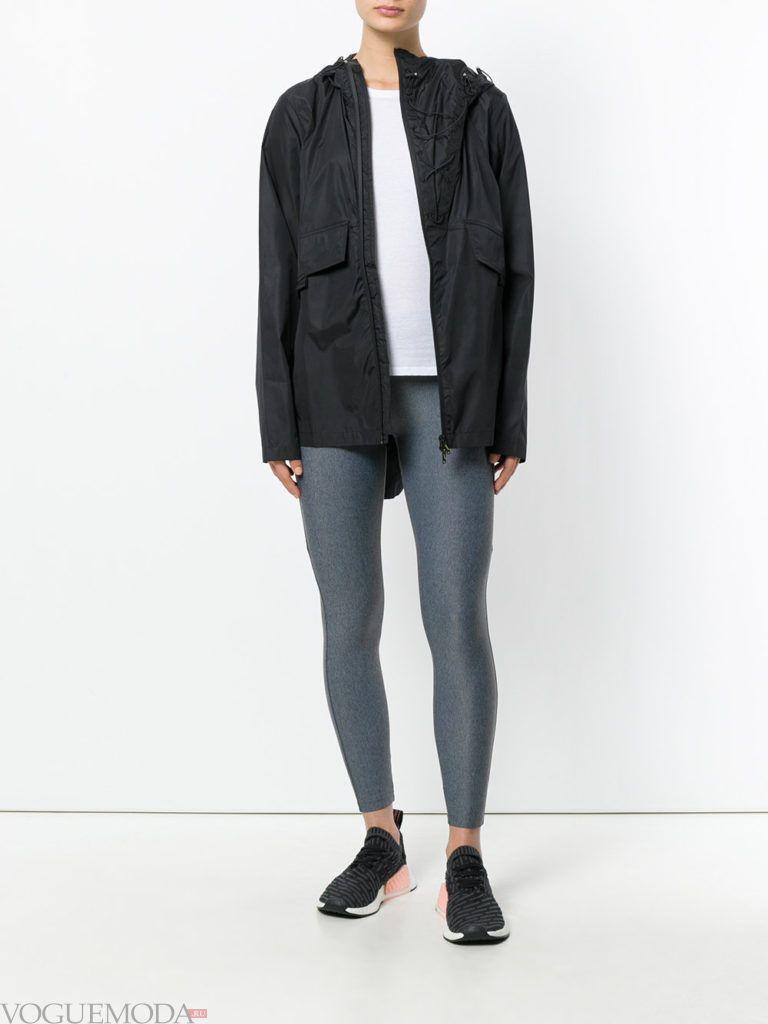 куртка в мужском стиле темная