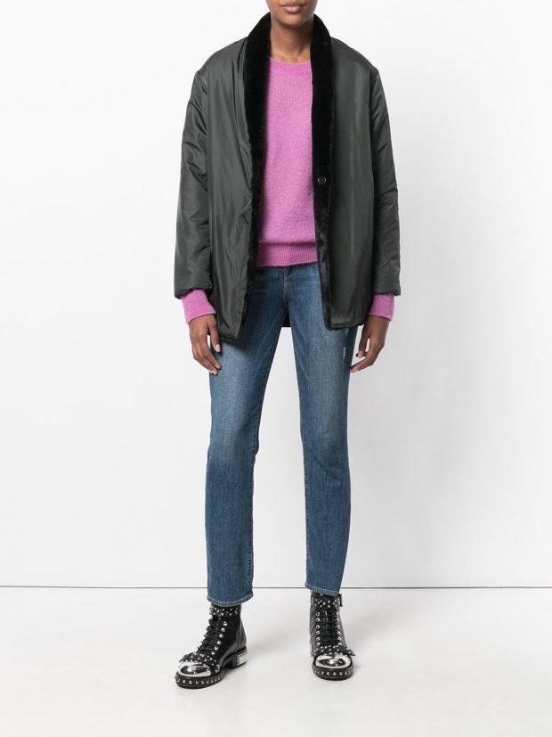 куртка в мужском стиле с декором