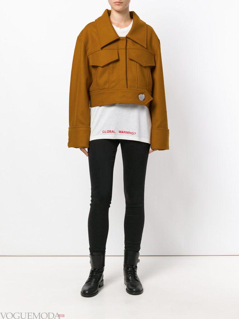 укороченная куртка цветной