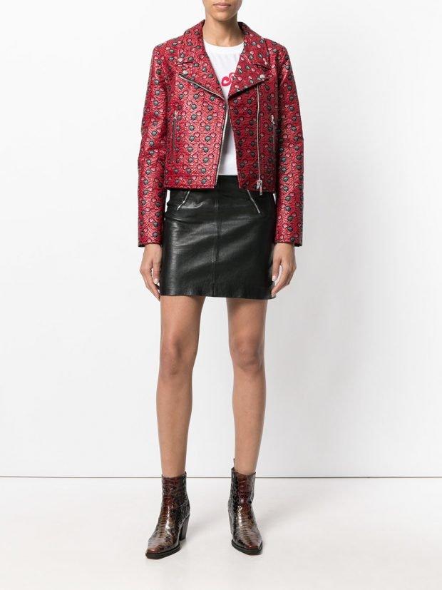 куртка из текстиля с принтом