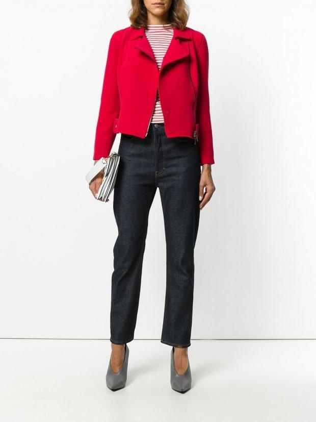 куртка из текстиля красная