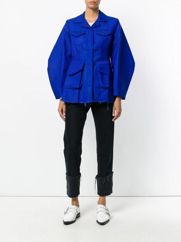 куртка из текстиля синяя