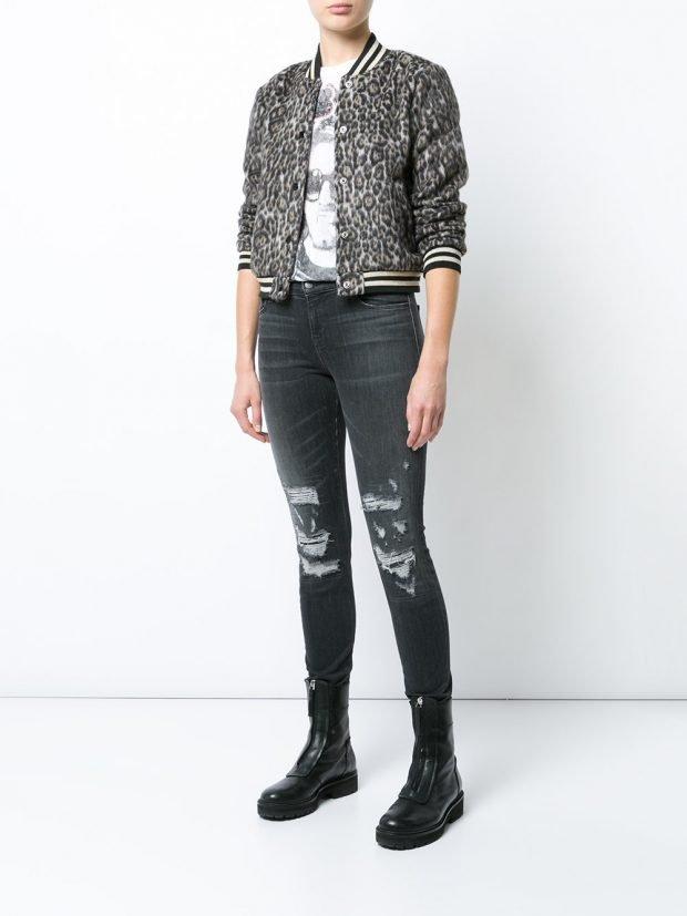 куртка-бомбер из текстиля