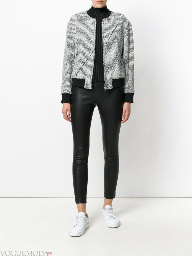 куртка из текстиля серая