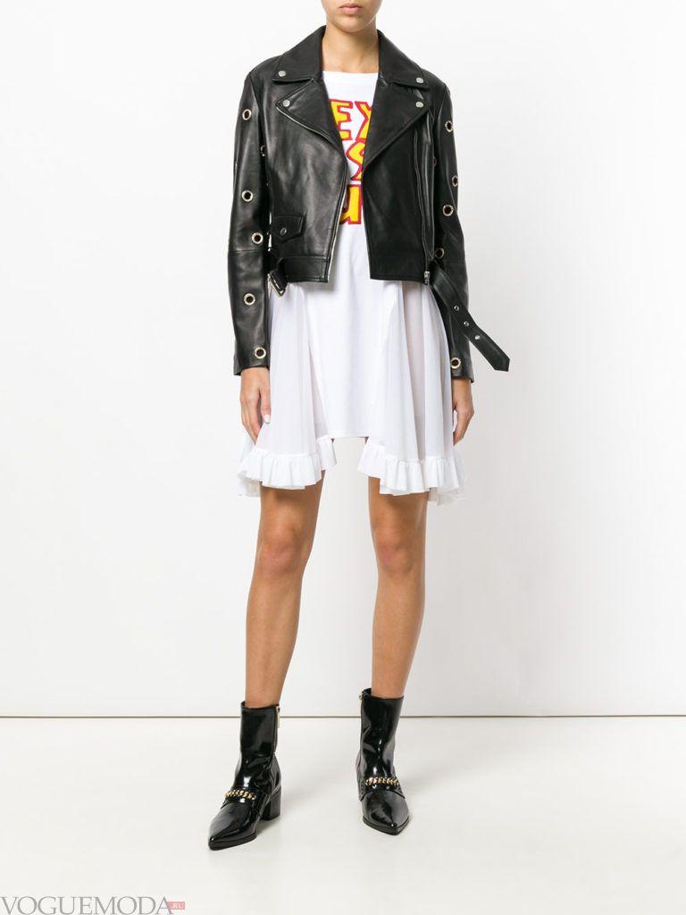 байкерская куртка с поясом