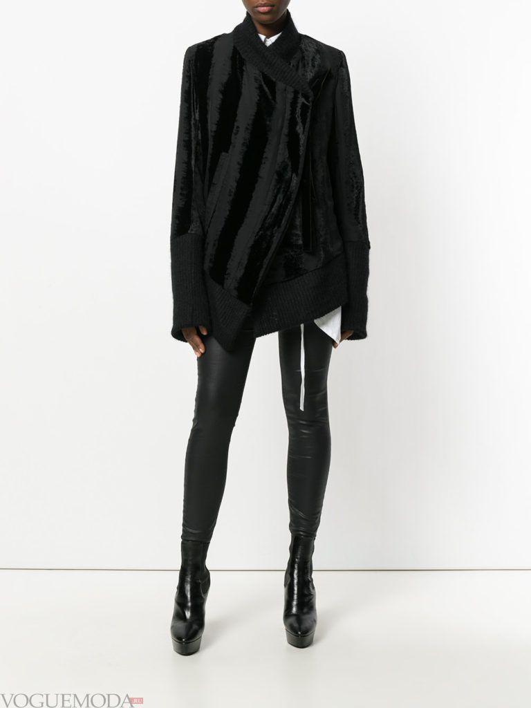 весенняя асимметричная куртка темная