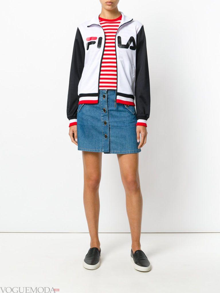 комбинированная куртка разноцветная